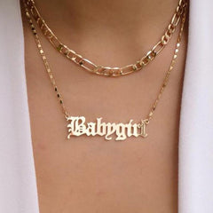 BABYGIRL DOUBLE NECKLACE