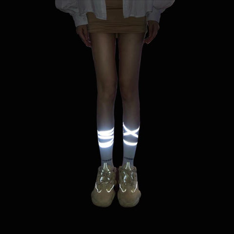 REFLECTIVE CROSS SOCKS