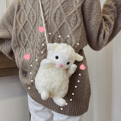 CUTE LITTLE SHEEP PLUSH BAG