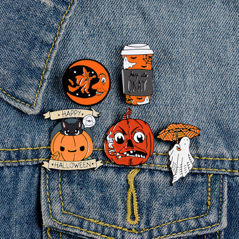 HAPPY HALLOWEEN BROOCH (SET/5PCS)