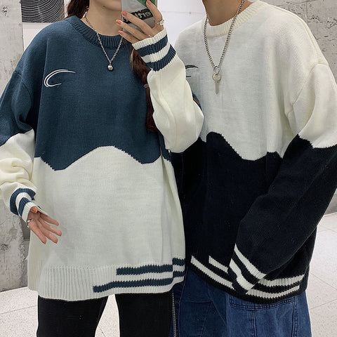 MOON CONTRAST PULLOVER SWEATER