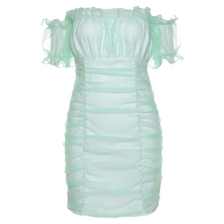 MINT RUCHED MINI DRESS