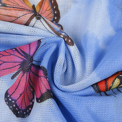 BUTTERFLY LONG SLEEVE MESH TOP