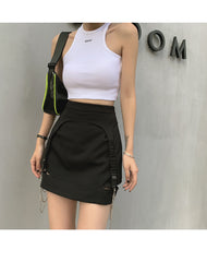 CHAIN CUTOUT SPLIT SKIRT