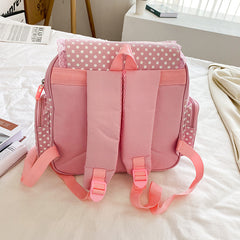 SWEET STRAWBERRY EMBROIDERED LACE BACKPACK