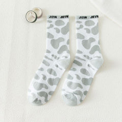 COLORFUL LEOPARD PRINT SOCKS (6 pairs)