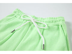 PURE COLOR HIGH WAIST CASUAL SPORTS PANTS