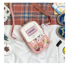CANDY COLOR TRANSPARENT CHAIN CROSSBODY BAG