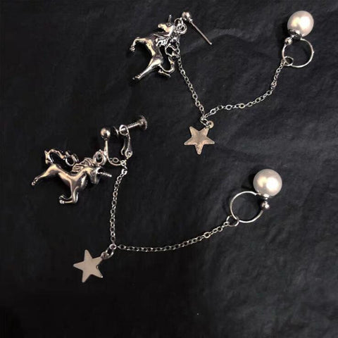 UNICORN CHAIN EARRINGS