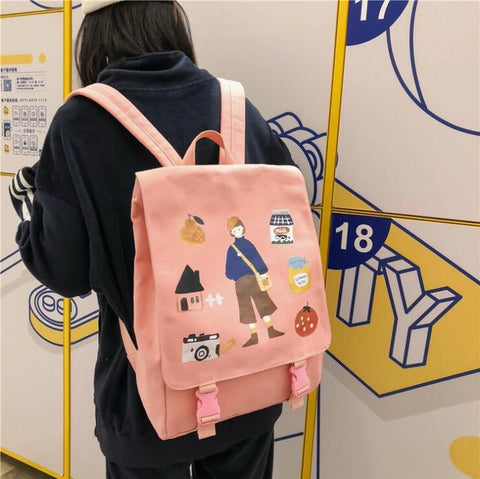ULZZANG CASUAL LIFE BACKPACK