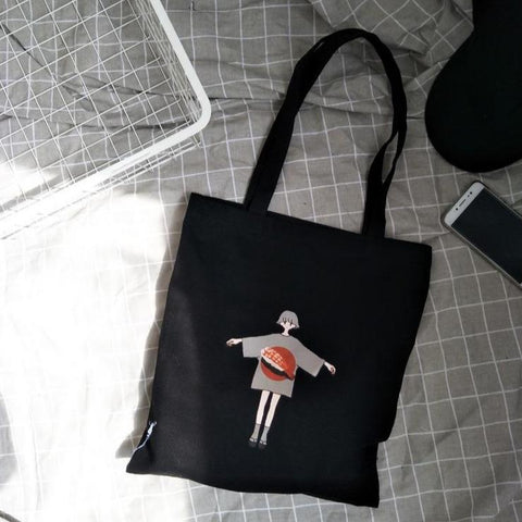 GIRL WITH OPEN HANDS PRINT BAG
