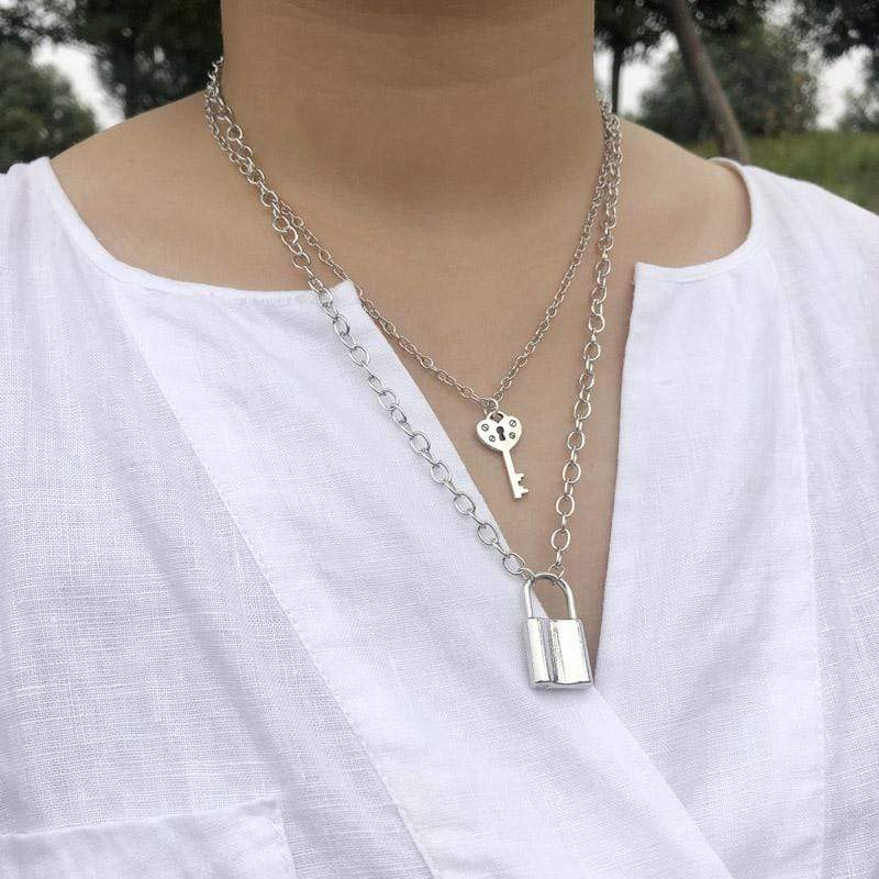 KEY LOCK LAYERED NECKLACE