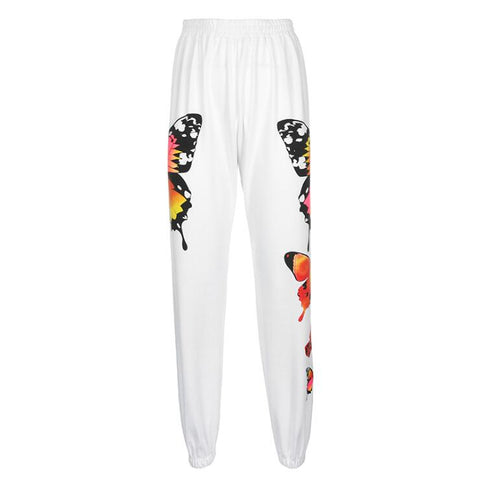 BUTTERFLY PRINT JOGGERS
