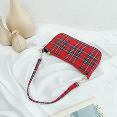 VINTAGE RED CHECKERED HANDBAG