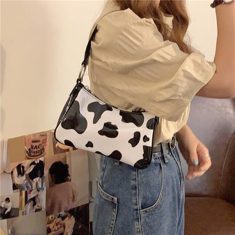COW PRINT BRIGHT PU BAG