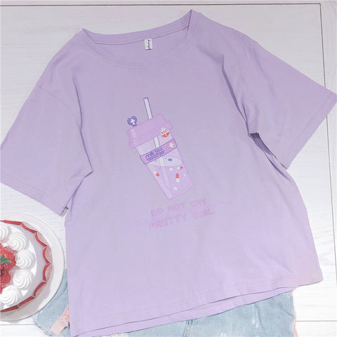 DO NOT CRY PRETTY GIRL MILK TEA SHIRT