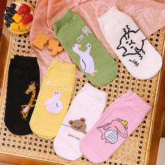 CARTOON PRINT LOW SOCKS