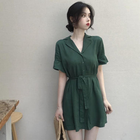 RETRO EMERALD DRESS