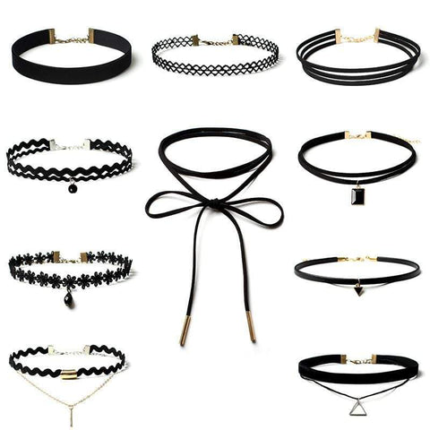 10PCS CHOKER SET