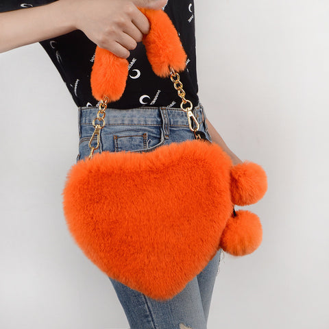 PLUSH HEART HANDBAG