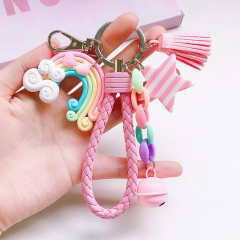 ULZZANG RAINBOW LOLLIPOP KEYCHAIN