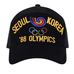OLYMPIC FIVE RING EMBROIDERED BREATHABLE MESH HAT