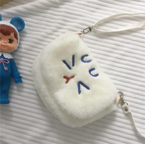 CUTE EXPRESSION PLUSH SHOULDER BAG