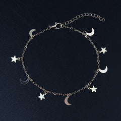 STAR MOON PENDANT BRACELET (2PCS)