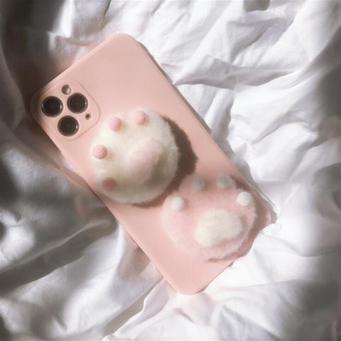 PLUSH CAT CLAW IPHONE CASE (I7-I12 PRO MAX)