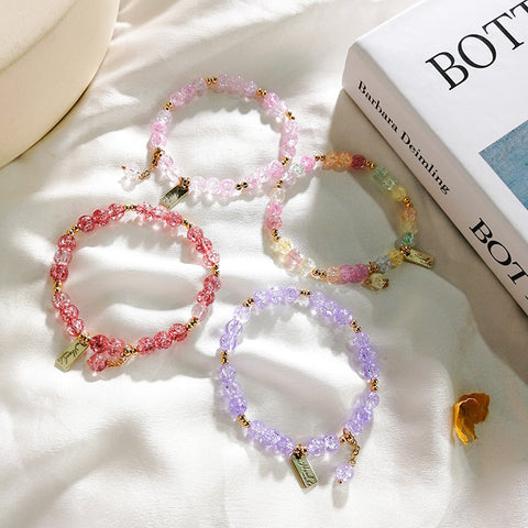 COLORFUL CRYSTAL BEADED BRACELET (4 PCS)