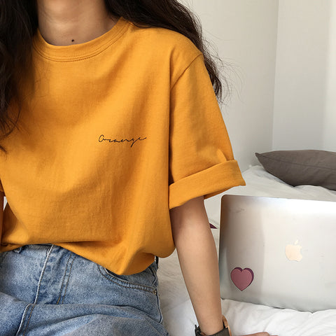 SIMPLE SMALL LETTERS TEE