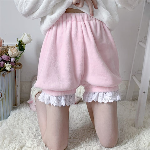 LOLITA LACE-TRIM PLUSH SAFETY PANTS