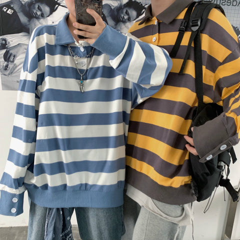 STRIPE POLO LONG SLEEVE T-SHIRT
