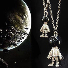 HIP HOP ASTRONAUT PENDANT NECKLACE