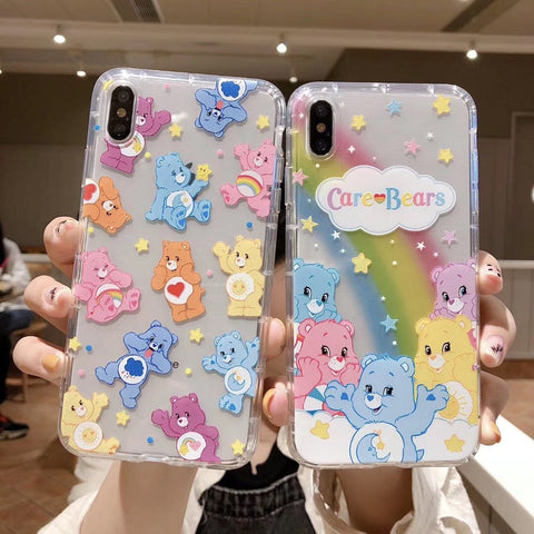 CUTE KAWAII CARE BEAR IPHONE CASE