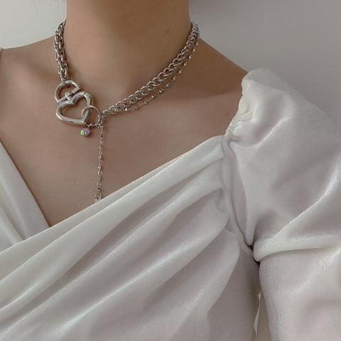 HEART LOCK THICK CHAIN NECKLACE