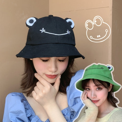 CUTE CARTOON FROG BUCKET HAT
