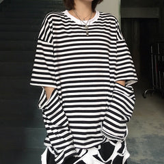 FASHION STRIPED LONG SLEEVE T-SHIRT