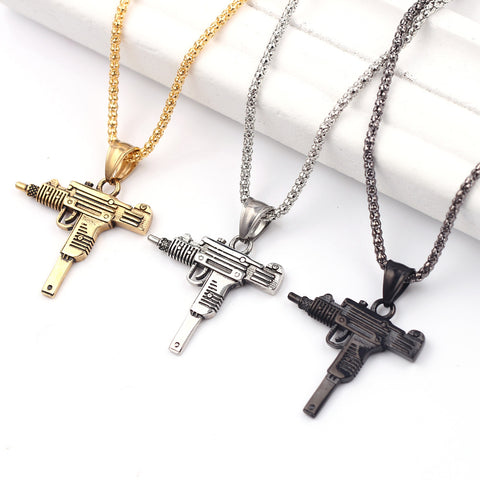 MACHINE GUN PENDANT NECKLACE