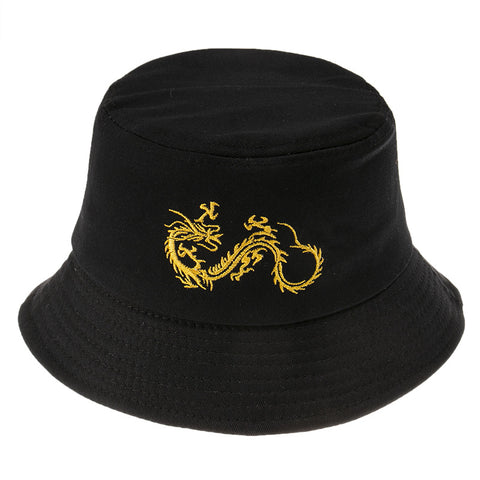 DRAGON EMBROIDERED BUCKET HAT