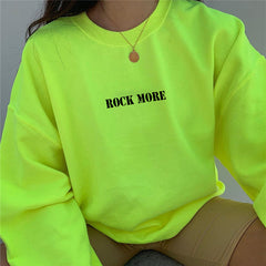 FLUORESCENT GREEN LOOSE PULLOVER SWEATER