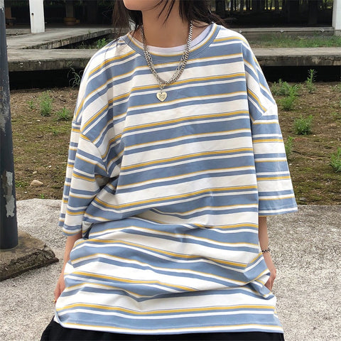 RETRO SIMPLE STRIPED TEE