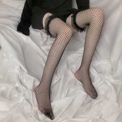 LOLITA LACE FISHNET OVER THE KNEE SOCKS