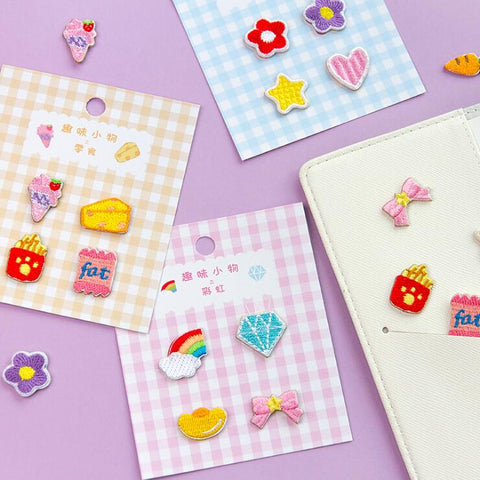 FUN EMBROIDERY CLOTH STICKERS (4 PCS/SET)