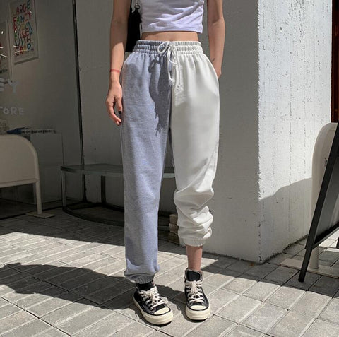COLOR BLOCK JAZZ CASUAL PANTS