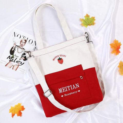 FASHION CONTRAST CANVAS BAG