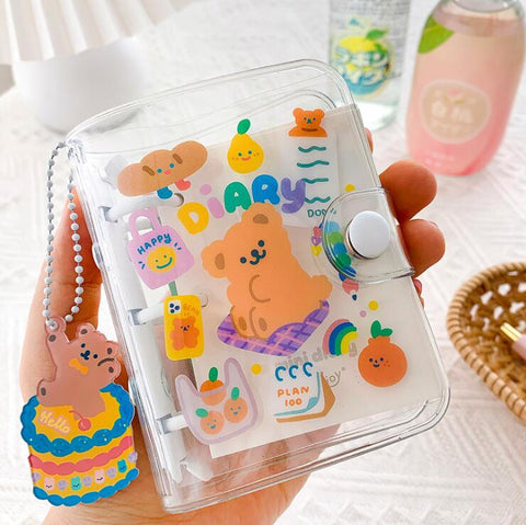 CUTE CARTOON MINI LOOSE-LEAF BOOK