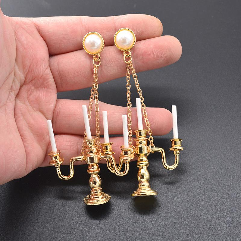 ANTIQUE CANDLE HOLDERS EARRINGS
