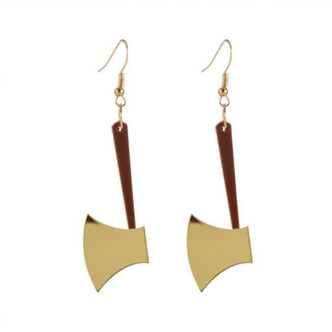 ACRYLIC SMALL AXE EARRINGS