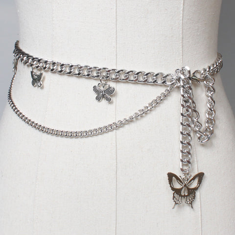 DOUBLE BUTTERFLY WAIST CHAIN
